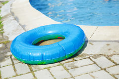 Life ring at the swimming pool Royalty Free Stock Photography