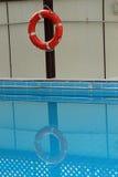 Life ring at a swimming pool Stock Photo