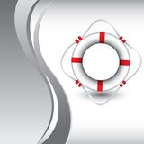Life ring on vertical silver wave background Royalty Free Stock Photography