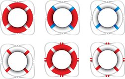 Life rings on white background Royalty Free Stock Photography