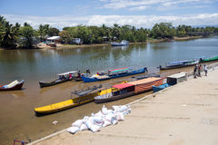 The  Life on the river delta Antainabalana ,  Madagascar Royalty Free Stock Photography