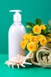 life roses spa ακόμα κίτρινη στοκ εικόνα