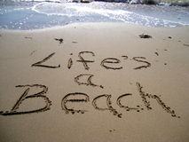 Life's a Beach royalty free stock photo