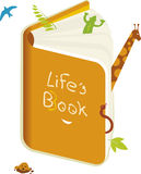 Life´s book (vector). Life´s book. Each element is grouped for easy changes stock illustration