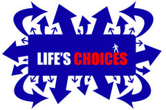 Lifes choices Stock Image