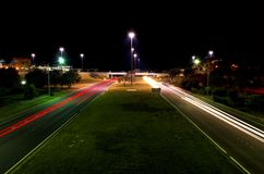 Life's Highway. Long exposure of cars royalty free stock photos
