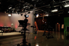 Life's a Stage Part 3. TV Production studio royalty free stock photography