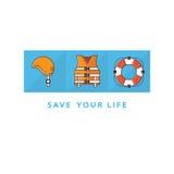 Life save icons Stock Photos