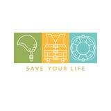 Life save  logo Royalty Free Stock Photography