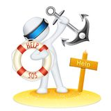 Life Saver 3d Man Royalty Free Stock Photo