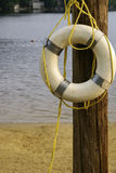 Life Saver. A life saver ring hanging on a pole royalty free stock photos