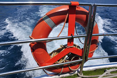 Life saver on boat Royalty Free Stock Photography