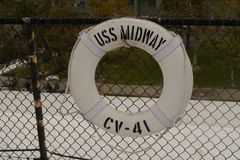 USS Midway Life Saver stock image
