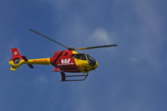 Life saver helicopter Stock Photography