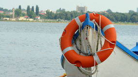 Life saver. Picture taken in Techirghiol, Eforie Nord Stock Photo