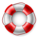 Life saver. Red and white Life saver Stock Photography