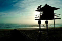 Life saver watch tower Royalty Free Stock Photo