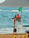 Life-saver watching the sea Royalty Free Stock Photos