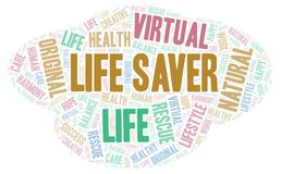 Life Saver word cloud. Wordcloud made with text only vector illustration