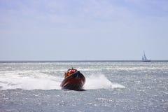 Free Life Saving Boat At Sea Stock Image - 22079071