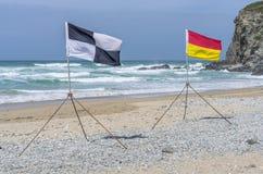 Life saving flags Stock Images
