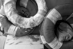 Life-saving rubber ring Stock Photography