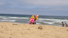 Life saving 2. Tangier city beach ba kassem Royalty Free Stock Images