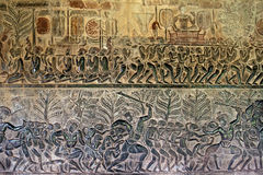 Life scene of King Suryavarman II - Angkor Wat, Siem Reap Stock Images