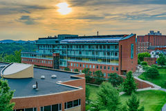 Life Sciences Building at West Virginia University. The Life Sciences Building on the campus of West Virginia University, known as WVU, in Morgantown, West royalty free stock images