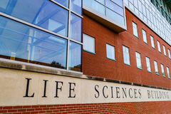 Life Sciences Building at West Virginia University. The Life Science Building on the campus of West Virginia University, known as WVU, in Morgantown, West royalty free stock image