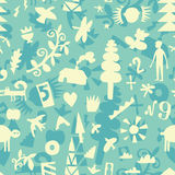 Life. Seamless pattern with objects lifestyle Stock Photo