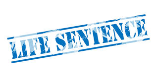 Life sentence blue stamp. On white background Royalty Free Stock Photo