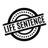 Life Sentence rubber stamp. Grunge design with dust scratches. Effects can be easily removed for a clean, crisp look. Color is easily changed Stock Images