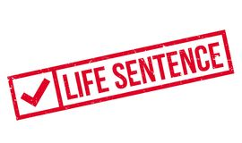 Life Sentence rubber stamp. Grunge design with dust scratches. Effects can be easily removed for a clean, crisp look. Color is easily changed Royalty Free Stock Photography