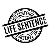 Life Sentence rubber stamp. Grunge design with dust scratches. Effects can be easily removed for a clean, crisp look. Color is easily changed Stock Photo