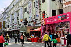 Life and shopping, Xiamen, China. Commerical street of Zhongshan road, Xiamen city, China. Xiamen is a harbor city and a famous tourism destination located in Royalty Free Stock Photography