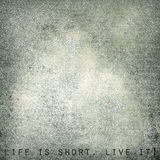Life is short. Live it - vintage postcard, space for text Royalty Free Stock Photo