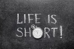 Life is short watch Royalty Free Stock Photos