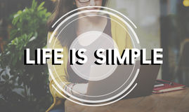 Life is Simple Balance Being Friends Happiness Concept Royalty Free Stock Photo