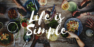 Life is Simple Being Enjoy Mind Relax Balance Concept Stock Image