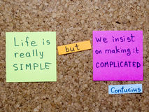 Life is simple Royalty Free Stock Image