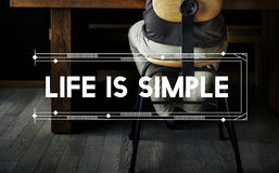 Life Is Simple Relax Work Space Word Concept.  royalty free stock photo