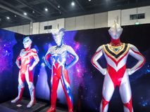 Free Life Size Of Ultraman Ginga, Gaia And Zero Model Is A Japanese Television Series Produced By Tsuburaya Productions. Royalty Free Stock Photography - 125267617
