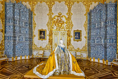 Life-size paper mache sculpture of Empress Elizabeth Petrovna in Royalty Free Stock Images