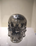 Life size quartz crystal skull - details Royalty Free Stock Images
