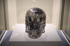 Life size quartz crystal skull Stock Images