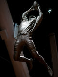 Life size  statue of famous football player Stock Images
