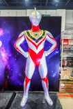 Life size of Ultraman model is a Japanese television series produced by Tsuburaya Productions stock photo