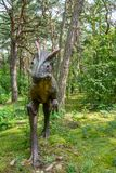 Allosaurus dinosaur statue Royalty Free Stock Photos