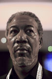 A life-sized wax model of a celebrity Morgan Freeman Stock Image